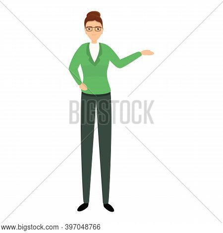 Successful Business Woman Eyeglasses Icon. Cartoon Of Successful Business Woman Eyeglasses Vector Ic