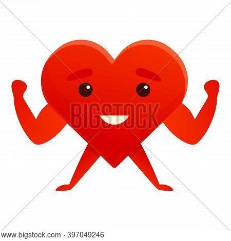 Healthy Heart Cardiac Icon. Cartoon Of Healthy Heart Cardiac Vector Icon For Web Design Isolated On