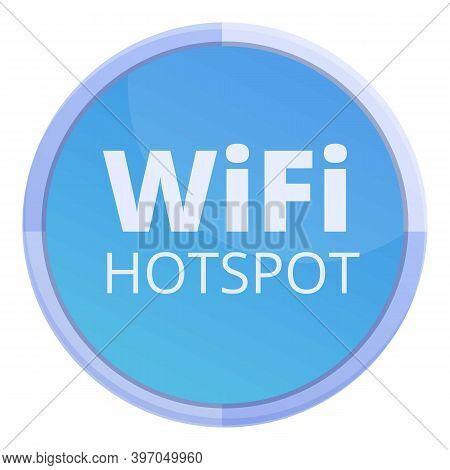 Free Wifi Hotspot Icon. Cartoon Of Free Wifi Hotspot Vector Icon For Web Design Isolated On White Ba