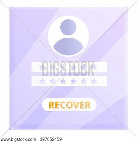 Recover Admin Password Icon. Cartoon Of Recover Admin Password Vector Icon For Web Design Isolated O