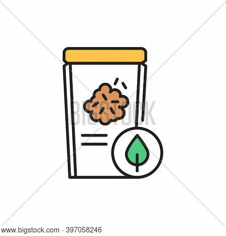 Organic Flax Seeds Color Line Icon. Pictogram For Web Page, Mobile App, Promo.