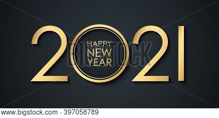 2021 New Year Celebrate Banner With 2021 Numbers Creative Design And Happy New Year Holiday Greeting