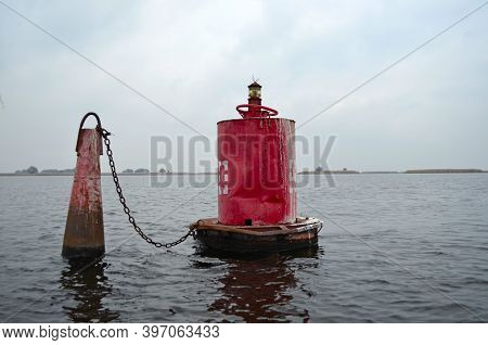 Navigation Buoy. Navigation Buoy On River Or See