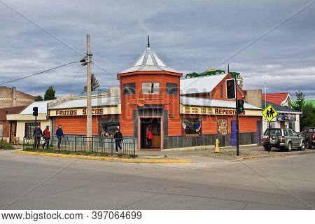 Punta Arenas, Patagonia, Chile - 21 Dec 2019: The Vintage House In Punta Arenas, Patagonia, Chile