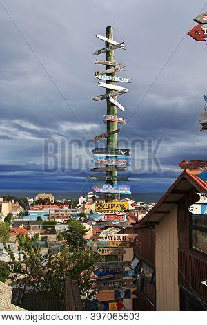Punta Arenas, Patagonia, Chile - 21 Dec 2019: The Art In Punta Arenas, Patagonia, Chile