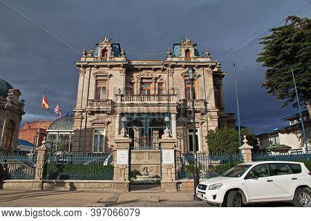 Punta Arenas, Patagonia, Chile - 21 Dec 2019: Palace Sara Braun In Punta Arenas, Patagonia, Chile