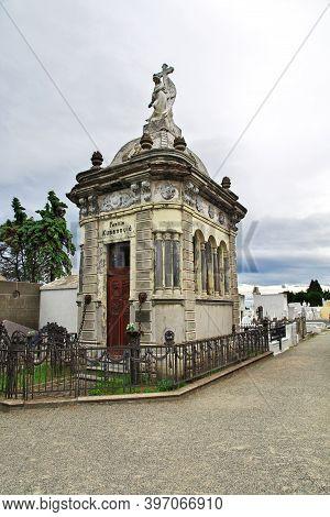Punta Arenas, Patagonia, Chile - 21 Dec 2019: The Old Cemetery In Punta Arenas, Patagonia, Chile