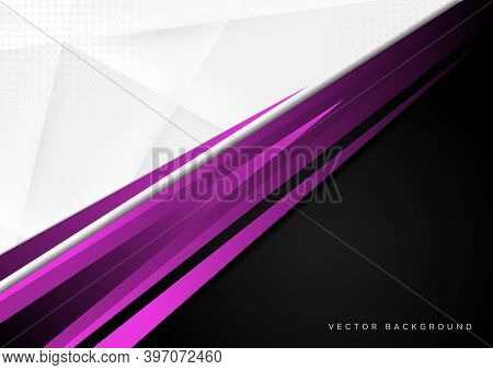 Template Corporate Concept Purple Black Grey And White Contrast Background. You Can Use For Ad, Post
