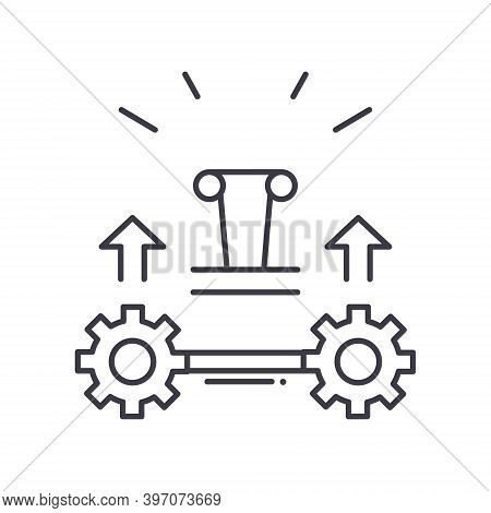 Generate Product Icon, Linear Isolated Illustration, Thin Line Vector, Web Design Sign, Outline Conc