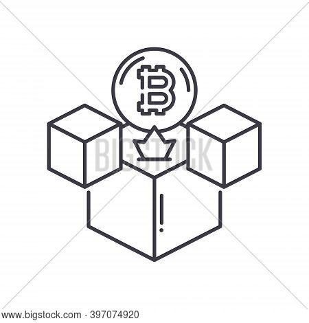 Genesis Blocking Icon, Linear Isolated Illustration, Thin Line Vector, Web Design Sign, Outline Conc