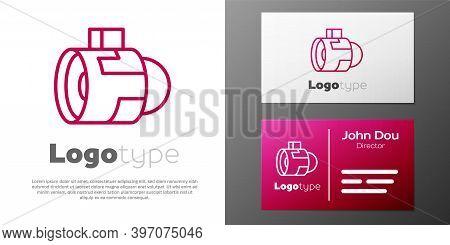 Logotype Line Jet Engine Turbine Icon Isolated On White Background. Plane Turbine. Airplane Equipmen