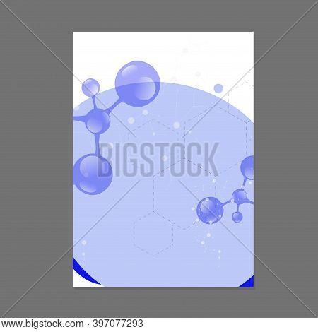 Template Molecular Scientific Banner Poster. Atom Structure Design. Vector Molecule Poster, Molecula