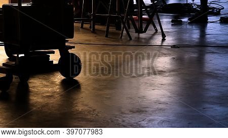 Background Studio Floor Of Filming Or Making Of Video Production