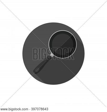 Flat Design Pan Or Skillet. Vector Illustration