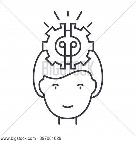 Generate Idea Icon, Linear Isolated Illustration, Thin Line Vector, Web Design Sign, Outline Concept