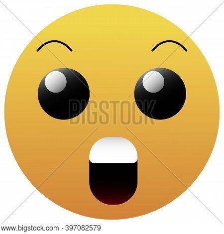 Surprised Emoji Vector Icon. Simple Element Illustration. Surprised Emoji Symbol Design. Can Be Used