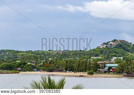 View From Temple To Beautiful Koh Ko Samui Island, Thailand.