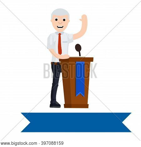 Ny, Usa, November 11. Democratic Candidate Joe Biden In The Presidential Election. Politician Is Beh