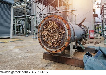 Heat Exchanger Shell And Tube Blocked In Petrochemical Industrial