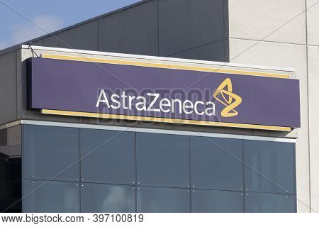 West Chester - Circa November 2020: Astrazeneca Plant. Astrazeneca Has Been Working On A Vaccine For
