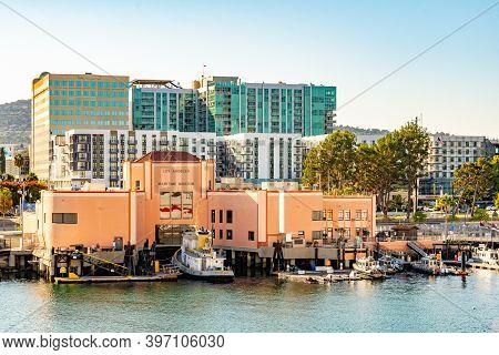 San Pedro, California - October 11 2019: San Pedro Maritime Museum In Los Angeles, California. View