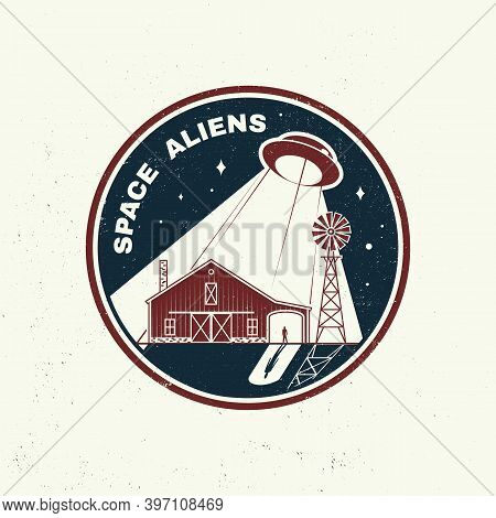 Space Aliens. Humans Are Not Alone, Shirt, T, Design, Print. Vector. Concept For Shirt, Print, Stamp