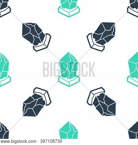 Green Cryptocurrency Coin Ethereum Classic Etc Icon Isolated Seamless Pattern On White Background. D