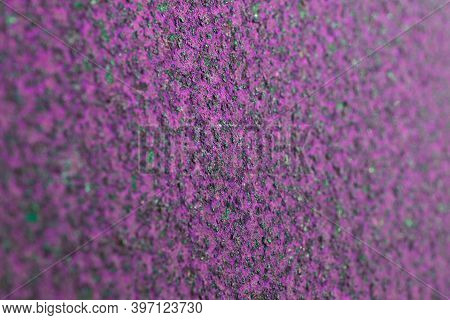 Coarse Pink And Green Tinted Background Or Wallpaper. Rough Textured Matte Surface. Catchy Bright Un