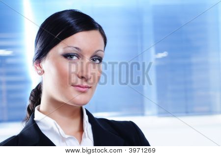 Businesswoman Look In Camera
