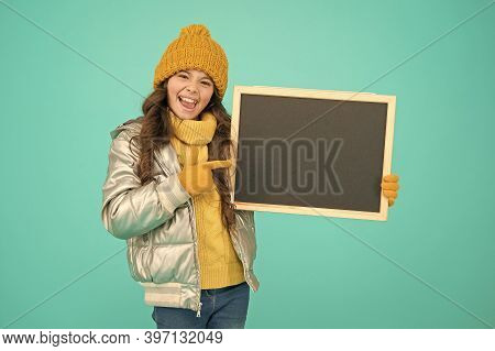 Informing Kids Community. Kid With Blackboard. Promoting Product. Child Promoting Event. Promotion C