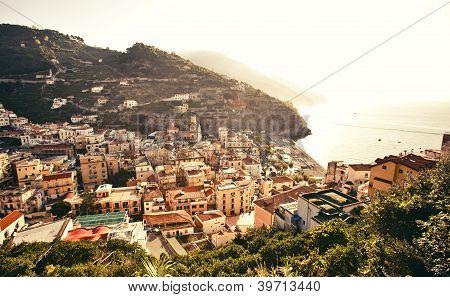 View of Minori town, Italy
