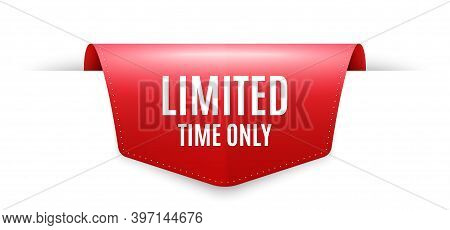 Limited Time Symbol. Ribbon Label Tag. Special Offer Sign. Sale. Infographics Price Tag Banner. Limi