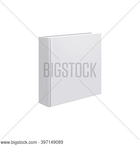 Books Albums Mockup Realistic Composition With Angle View Of Square Book Album Vector Illustration