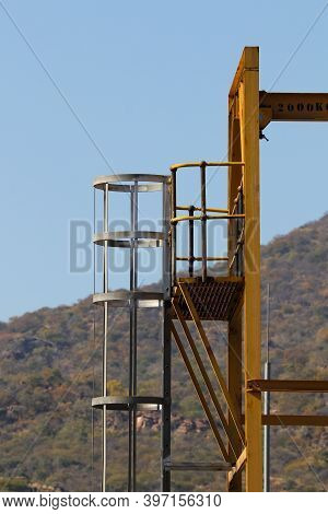 Industrial Loading Hoist Tower With Ladder, Burgersfort, South Africa