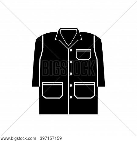 Wear A Gown Black Icon,vector Illustration, Isolated On White Background Label. Eps10