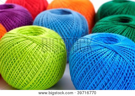 Colorful Balls On A White Background