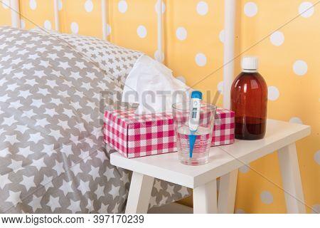 Bedroom from someone who is sick