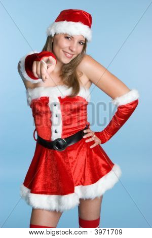 Mrs Claus Pointing