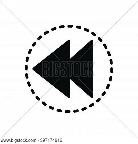 Black Solid Icon For Prior Earlier Previous Advance Former Ago Before Antecedent Anterior Preceding