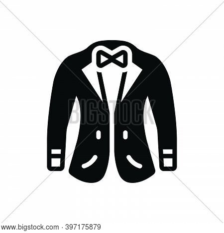 Black Solid Icon For Coat Fabric Garments Wear Attire Jacket Coating Fashionable Denim