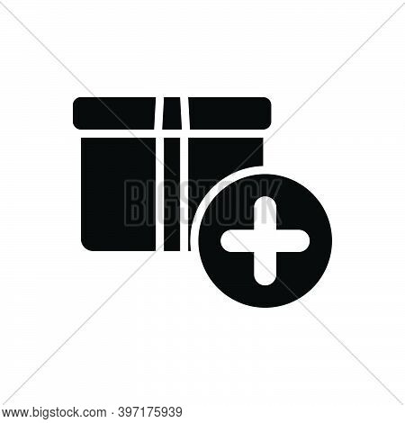 Black Solid Icon For Item Box Object Commodity Thing Groceries Shop Element Product Daily-use-item