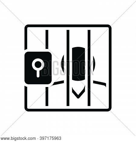 Black Solid Icon For Prison Gel Lockup Penitentiary Imprisonment Gaol Defendant Respondent Jail Appe