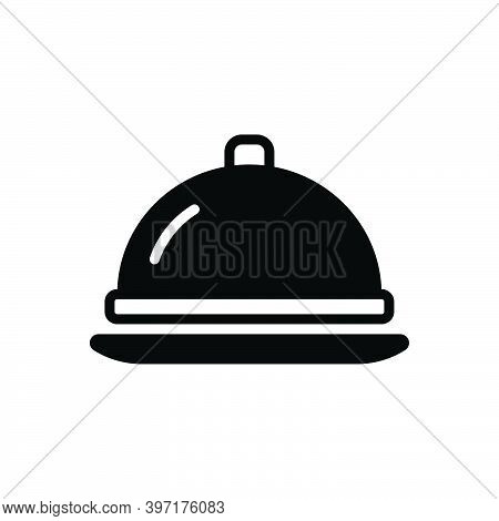 Black Solid Icon For Cover Cooking Culinary Gourmet Catering Dish Food Literally Service Restaurant