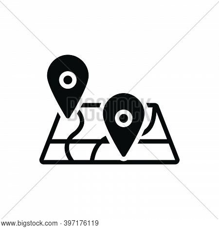 Black Solid Icon For District Country Neighborhood Shire Area Sector Zone Locality Region Territory