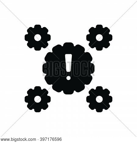 Black Solid Icon For Significant Exclamation-mark  Priority Value Import Organize Caution Setting Da