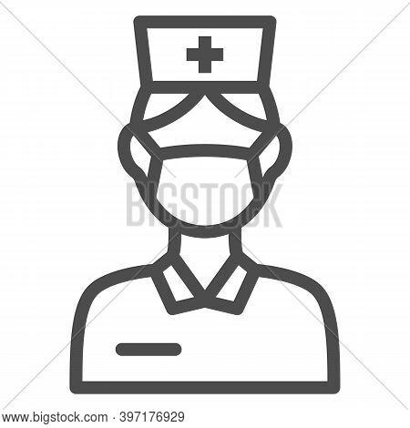 Nurse Line Icon, International Dentist Day Concept, Female Dentist Sign On White Background, Nurse I