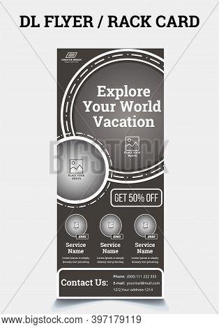 Corporate Travel Postcard Rack-card Dl Flyer Design., Travel Dl Flyer / Rack Card,dl Flyer Template