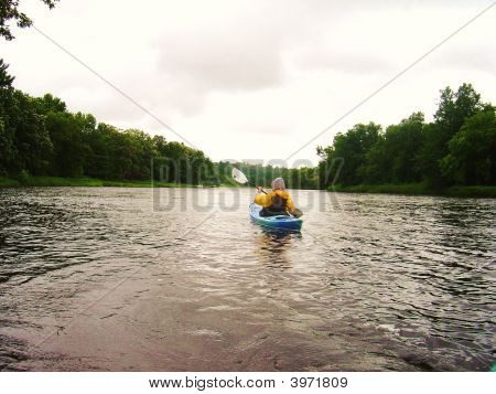 Kayaking Down The River