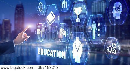 Education Process Of Facilitating Learning. Business Education Concept.