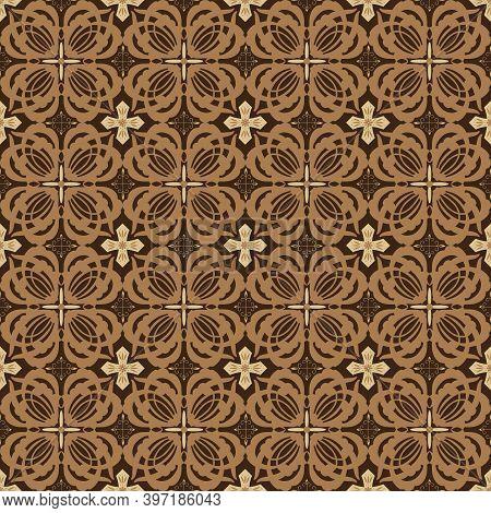 Elegant Flower Motifs On Typical Solo Batik With Good Blend Color Design.